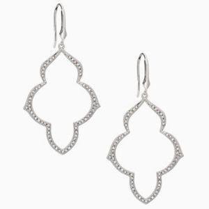 Stella & Dot Pave Arabesque Chandelier Earrings